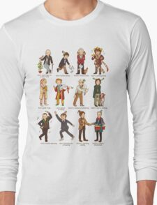 The Twelve Doctors of Christmas Long Sleeve T-Shirt