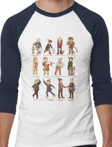 The Twelve Doctors of Christmas Men's Baseball ¾ T-Shirt