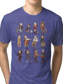 The Twelve Doctors of Christmas Tri-blend T-Shirt