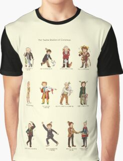 The Twelve Doctors of Christmas Graphic T-Shirt
