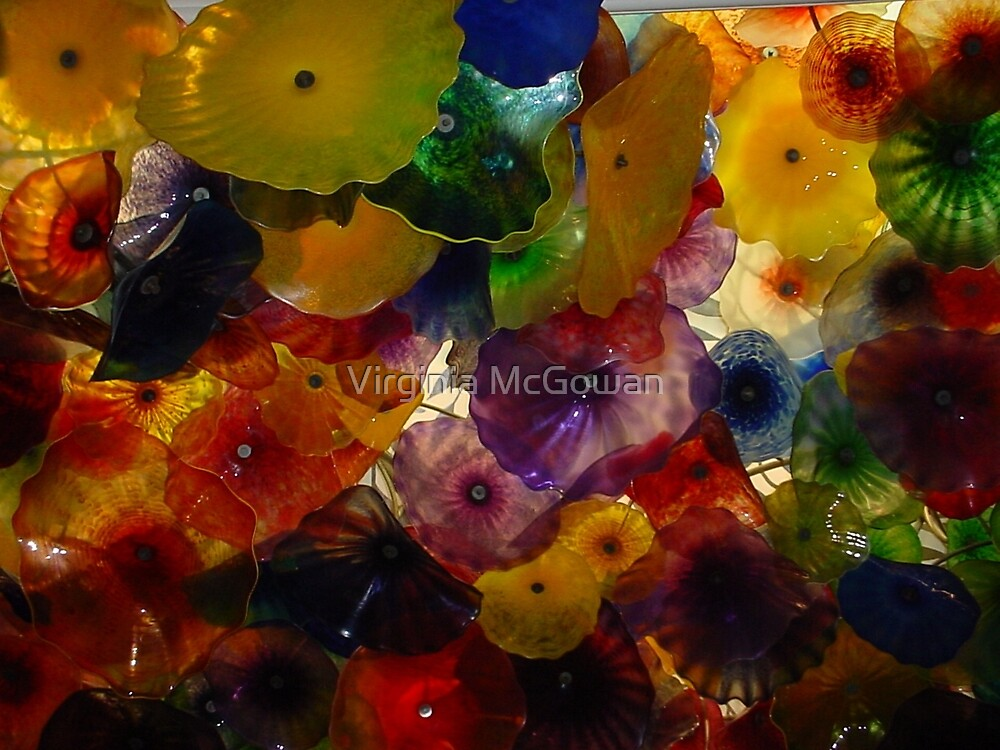 Bellagio Hotel Ceiling in Las Vegas  by Virginia McGowan