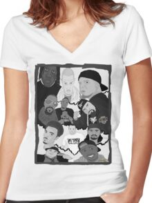 REVOLUTIONARY HIP HOP Women's Fitted V-Neck T-Shirt