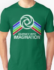 Vintage Journey Into Imagination EPCOT Center Distressed Logo Retro Style T-Shirt