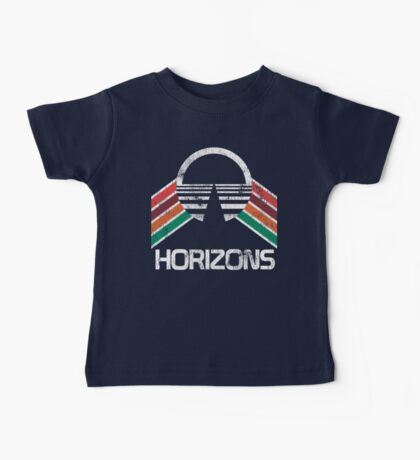 Vintage Horizons Distressed Logo in Vintage Retro Style Baby Tee