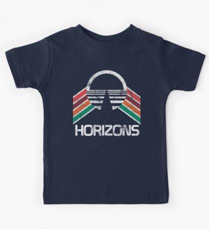 Vintage Horizons Distressed Logo in Vintage Retro Style Kids Tee