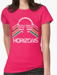 Vintage Horizons Distressed Logo in Vintage Retro Style Womens Fitted T-Shirt