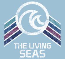 The Living Seas Distressed Logo in Vintage Retr Style Baby Tee
