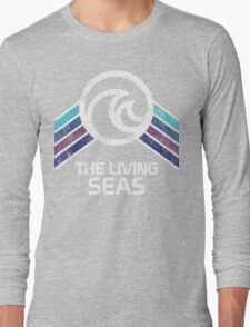 The Living Seas Distressed Logo in Vintage Retr Style Long Sleeve T-Shirt