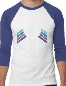 The Living Seas Distressed Logo in Vintage Retr Style Men's Baseball ¾ T-Shirt
