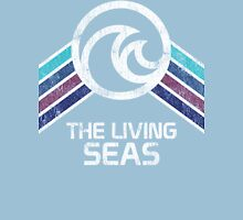 The Living Seas Distressed Logo in Vintage Retr Style Unisex T-Shirt