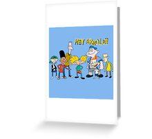 hey arnold Greeting Card