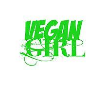 Vegan Girl Edge Photographic Print