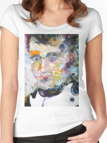 NAPOLEON - oil portrait Women's Fitted Scoop T-Shirt