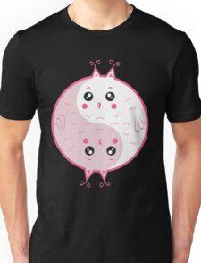 Cute owls yin yang Unisex T-Shirt