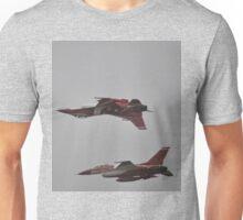 Black Knights Mirror Formation,Avalon Airshow,Australia 2015 Unisex T-Shirt
