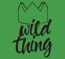 Wild Thing (black & white) Baby Tee