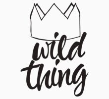 Wild Thing (black & white) Kids Tee