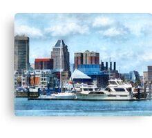Baltimore Skyline and Harbor Canvas Print