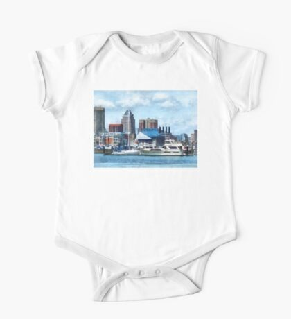 Baltimore Skyline and Harbor One Piece - Short Sleeve