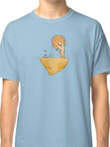 Wild and Brown African Safari Lion Float in Blue Sky on Mountain  Classic T-Shirt