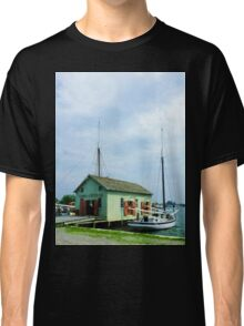 Boat By Oyster Shack Classic T-Shirt