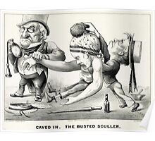 Caved in -  The busted sculler - 1876 - Currier & Ives Poster