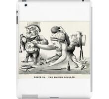 Caved in -  The busted sculler - 1876 - Currier & Ives iPad Case/Skin