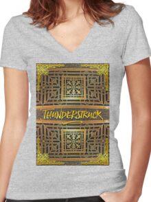 Thunderstruck Opera Garnier Ornate Mosaic Floor Paris France Women's Fitted V-Neck T-Shirt