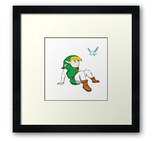 Link and Navi Framed Print