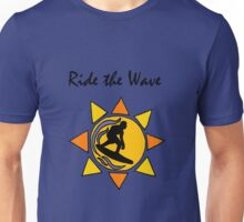 Cool Ride the Wave Surfing Art Unisex T-Shirt