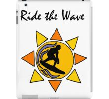 Cool Ride the Wave Surfing Art iPad Case/Skin