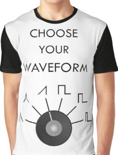 Choose Your Waveform - Black Graphic T-Shirt