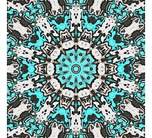 Textural Turquoise Mandala Photographic Print
