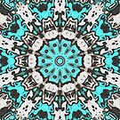 Textural Turquoise Mandala by Phil Perkins