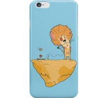 Wild and Brown African Safari Lion Float in Blue Sky on Mountain  iPhone Case/Skin