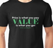 Warren Buffett - Price is... | White Unisex T-Shirt