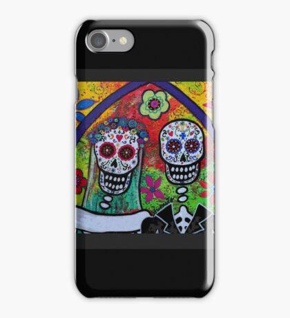 Dia De Los Muertos Skeleton Bride & Groom iPhone Case/Skin
