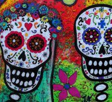 Dia De Los Muertos Skeleton Bride & Groom Sticker