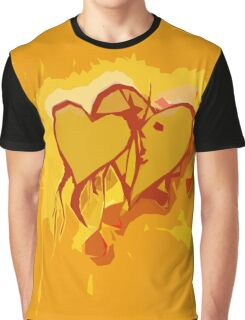 Mellow Yellow Hearts Graphic T-Shirt
