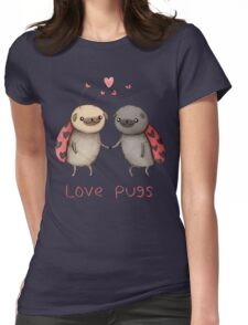 Love Pugs Womens Fitted T-Shirt
