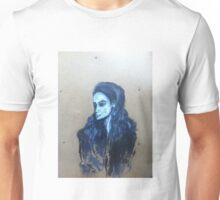 portrait of woman on wood Unisex T-Shirt