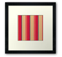 Stripes and other shapes Framed Print