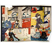 Hiroshige Utagawa - Sogoroku Game - 1860 - Woodcut Poster