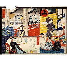 Hiroshige Utagawa - Sogoroku Game - 1860 - Woodcut Photographic Print