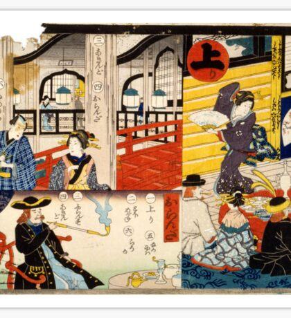 Hiroshige Utagawa - Sogoroku Game - 1860 - Woodcut Sticker