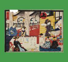 Hiroshige Utagawa - Sogoroku Game - 1860 - Woodcut Kids Tee