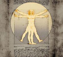 Vitruvian man 14 (enlightenment) by filippobassano