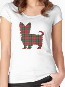 Tartan Terrier Women's Fitted Scoop T-Shirt