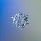 Icy relief, real snowflake macro photo by Alexey Kljatov
