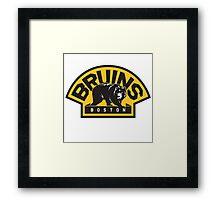 NHL Boston Bruins Logo Framed Print